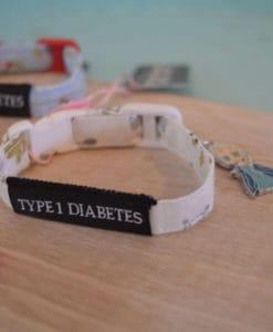 Type 1 Diabetes Medical Alert Bracelets snowflake