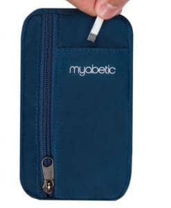 Diabetes Case - Myabetic Eli Diabetes Pouch Blue strips