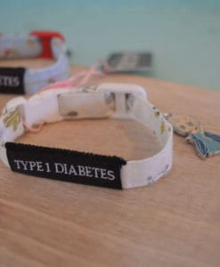 Type 1 Diabetes Medical Alert Bracelets snowflake
