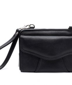 Myabetic Marie Diabetes Mini Crossbody Black with Silver Chain