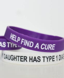 My Daughter Has Type 1 Diabetes Wristband