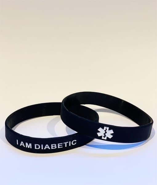 I am Diabetic Wristband