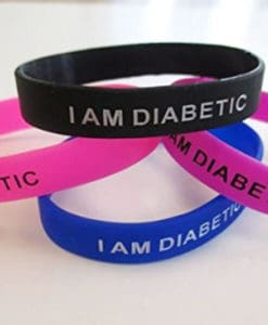 I am Diabetic Wristband