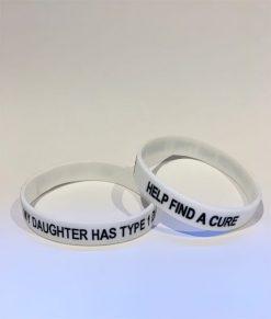 My Daughter Has Type 1 Diabetes Wristband