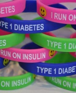 I Run on Insulin Type 1 Diabetes Kids Wristband