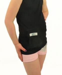 Girls T1D Insulin PumpPocket black