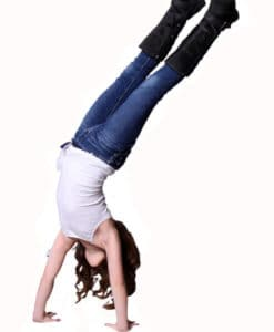 Girls T1D Insulin PumpPocket handstand
