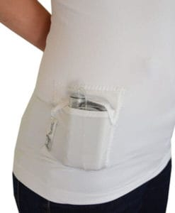 T1D PumpPocket Insulin Pump Tank for Women White