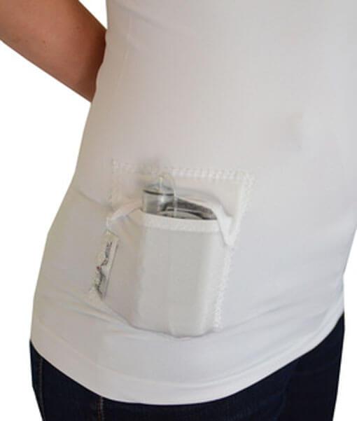 T1D PumpPocket Insulin Pump Tank for Women White