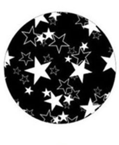 freestyle libre device stickers black and white star