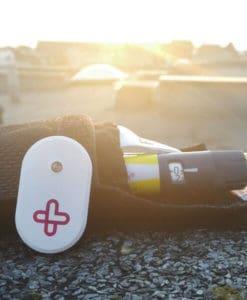 MedAngel ONE Sensor with Frio Bag close up
