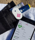 MedAngel ONE Sensor with Frio Bag iPhone beach setting