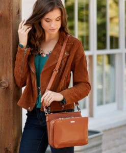 Cherise Diabetes Handbag Cognac