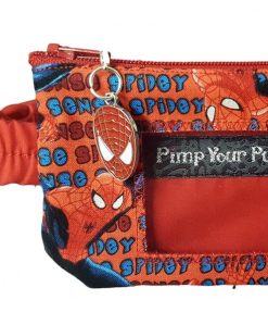 Insulin Pump Pouch Spiderman close up