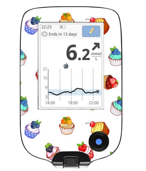 Freestyle Libre Handheld Sticker Cupcake