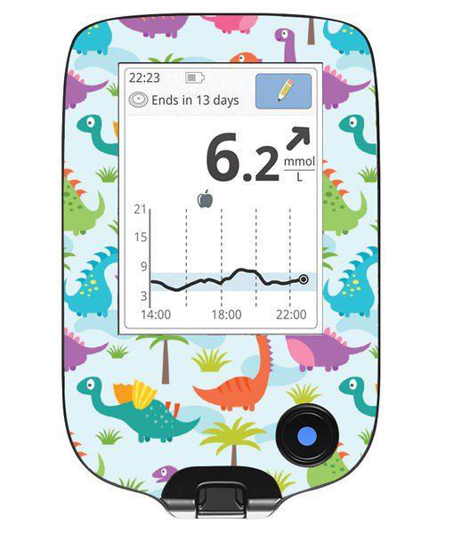 Freestyle Libre Handheld Sticker Dinosaur