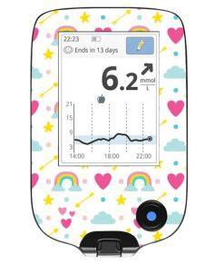 Freestyle Libre Handheld Sticker Rainbows