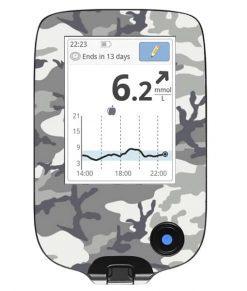 Freestyle Libre Handheld Sticker Snow Camo