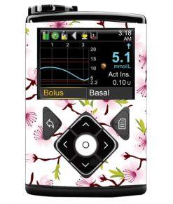 Medtronic 640G Sticker White Cherry Blossom