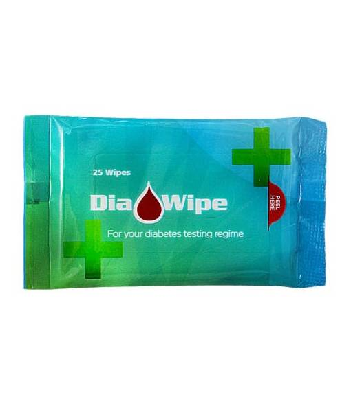 Dia Wipe Diabetes Finger Wipes - 5 packs