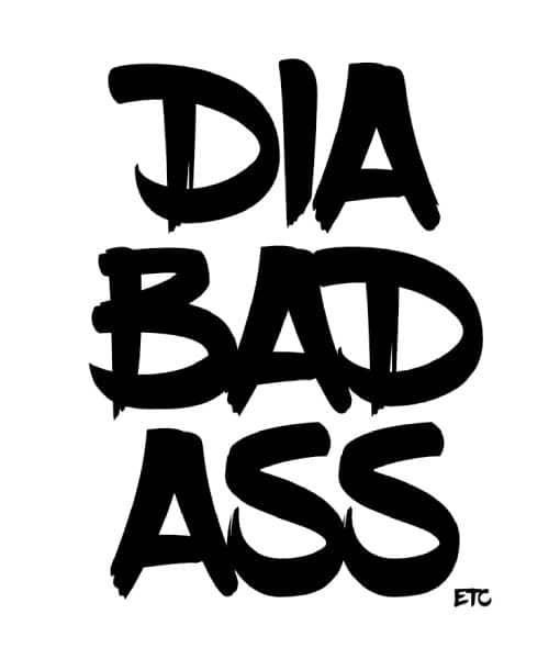 Diabetes Vinyl Decal Stickers Diabadass