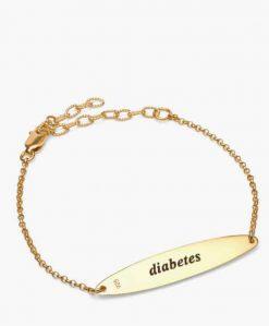 Myabetic Eva Diabetes Bracelet Gold
