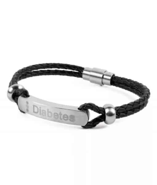 Diabete-ezy Medi-alert Band Black