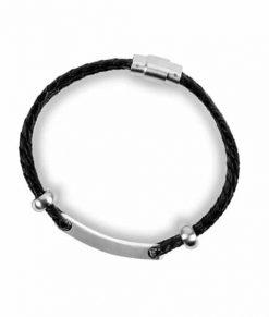 Diabete-ezy Medi-alert Band Black top
