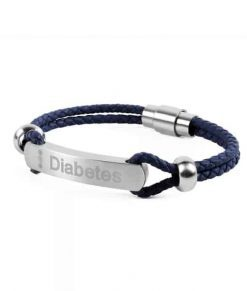 Diabete-ezy Medi-alert Band Navy
