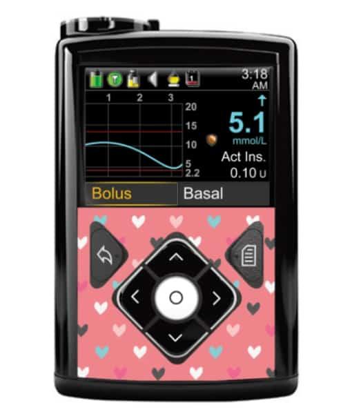 edtronic 640G Button Panel Sticker Hearts