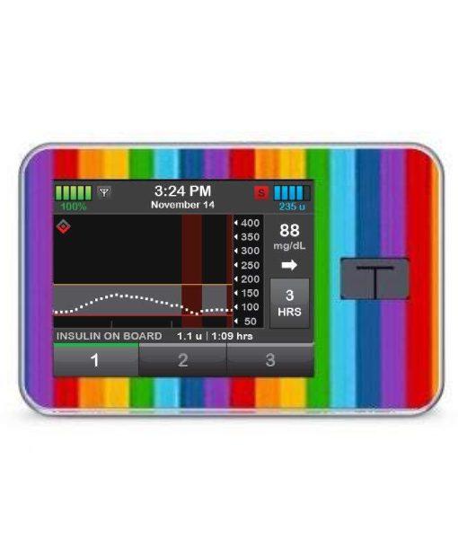 My Diabetic Life Tandem T:Slim X2 Pump Sticker Rainbow Stripes