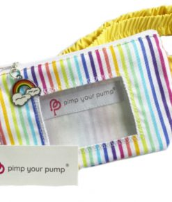 Insulin Pump Pouch Bright Rainbow Close Up