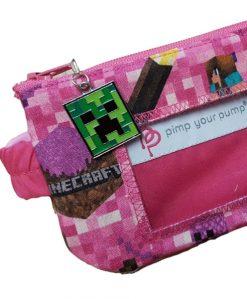 Insulin Pump Pouch Pink Minecraft
