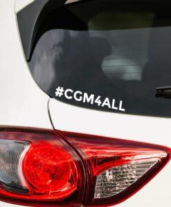 #CGM4AALL Car Sticker