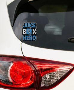 Juice Box Hero Car Sticker