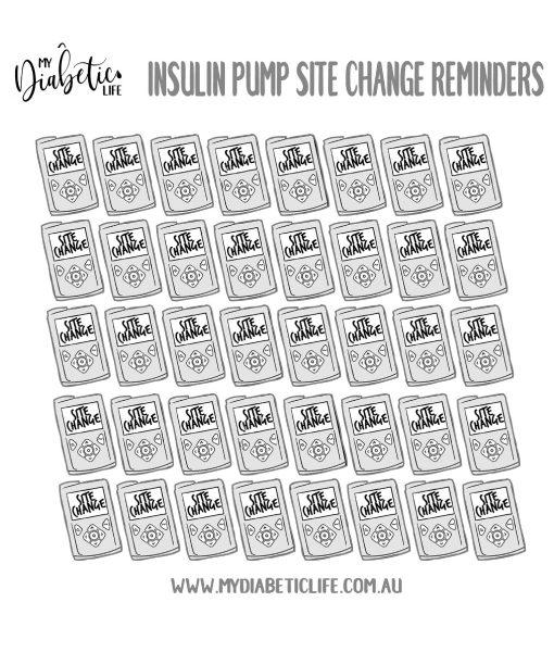 Pump Site Change Stickers